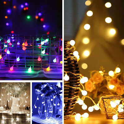 10M-50M Long Globe Ball String Fairy Lights Festoon Outdoor Indoor Xmas Garden • 14.95£