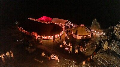 Wedding Yurt HIRE 30ftx60ft Stretched Yurt With Matting And Fairy Lights • 2,970£