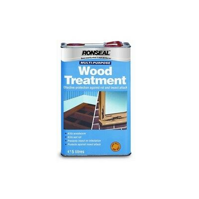 RONSEAL Multi Purpose WOOD TREATMENT 5L 33338 Protects From Insects And Woodworm • 29.99£