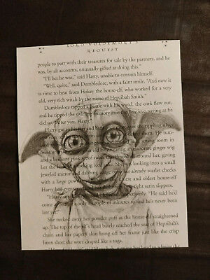 $2.90 • Buy Harry Potter Book Page Print, Dobby, Unframed Home Decorations, Wall Hangings