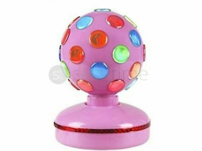 £24.99 • Buy New Pink Dj Disco Ball Spinning Rotating Multi Coloured Club Party Pub Lights