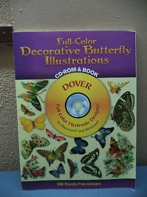 AU26.22 • Buy Dover Electronic Clip Art: Full-Color Decorative Butterfly Illustrations Dover