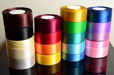 Satin Ribbon Rolls Reels 25mm 15mm 10mm 38mm 6mm Widths Double Sided 25 Metres • 3.25£