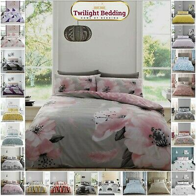 £15.99 • Buy PRINTED Duvet Cover Sets Single Double King Size Reversible Bedding Quilt Covers