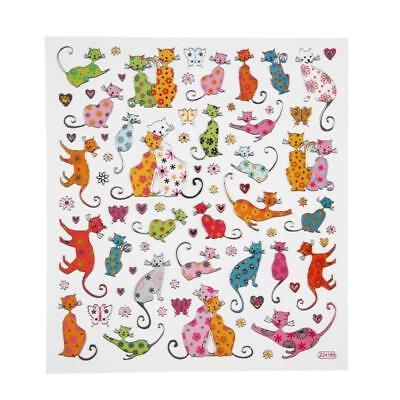 Fancy Self Adhesive Metallic Cats Stickers Sheet For Card Christmas Decorations • 1£