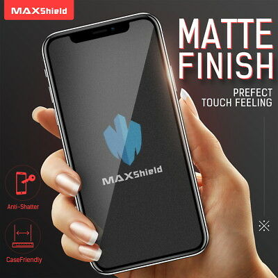 AU9.99 • Buy MAXSHIELD MATTE TEMPERED GLASS SCREEN PROTECTOR FOR APPLE IPhone SE 2020 XS 8 7