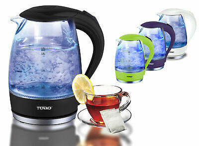AU29.99 • Buy TODO 1.7L Clear Glass Cordless Kettle Electric Blue Led Light Automatic 360 Jug