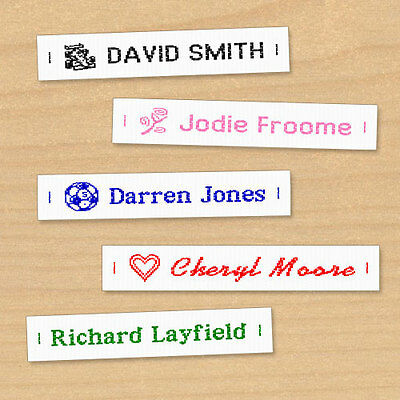Woven Name Labels, Sew-in Name Tags For School Childrens Uniform UK • 4.50£