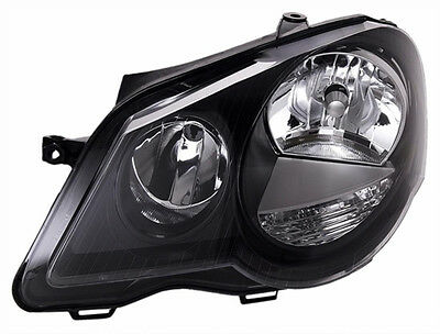 AU185.13 • Buy BLACK Clear Finish Left Headlight For VW POLO 9N3 05-09 Incl With LWR MOTOR