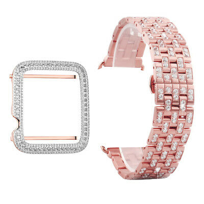 $ CDN81.63 • Buy 38mm Apple Watch Series 1 Bezel Rose Gold Tone Custom Bracelet Parts