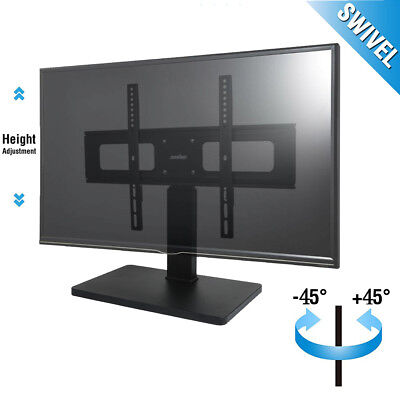 Swivel Universal Base Table Top TV Stand W/ Mount For 27-65  LED LCD Flat Screen • 50.92$