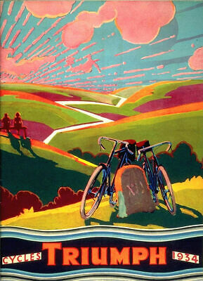 £3.99 • Buy Vintage 1934 Triumph Cycles Bicycle Advertisement Poster Art Print Picture A4