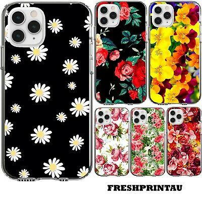 AU15.29 • Buy Case Cover Silicone Cute Flowers Floral Daisy White Yellow Pattern Roses Tulips