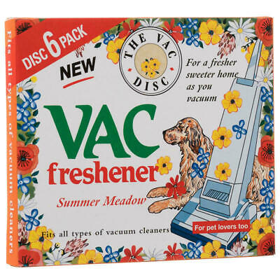 VAC Hoover Vacuum Freshener SUMMER Meadow For Pet Lovers Extra Strength 6 Discs • 2.20£