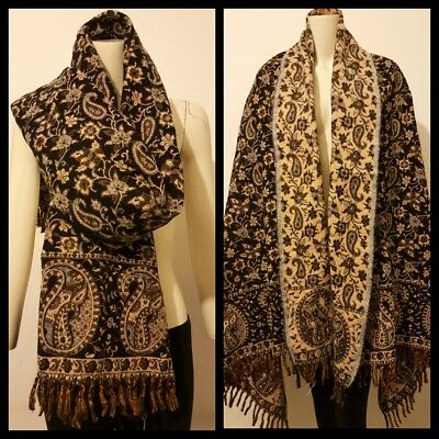 LADIES STUNNING Luxurious 100%Yak Wool LARGE Shawl,WRAP,HANDMADE SCARF,BLANKET  • 28.99£