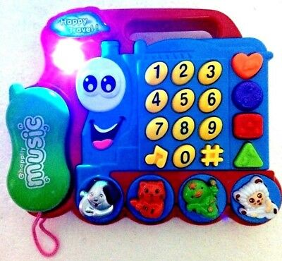 £10.99 • Buy Kids Train Phone Set Learning Activities Sound Toy For Girls And Boys-ideal Gift
