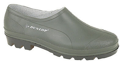 Dunlop Garden Shoes Unisex Waterproof Green Gardening Wellie Clogs Sizes 3 To 11 • 11.99£