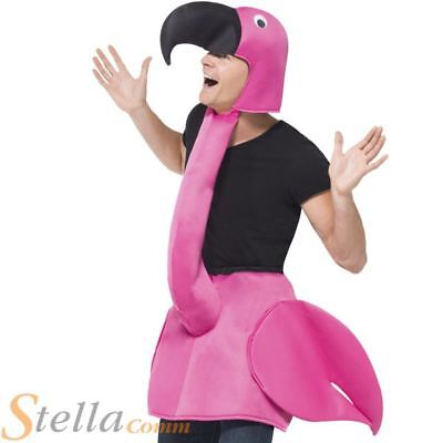 Adult Flamingo Fancy Dress Costume Bird Men Ladies Animal Unisex Stag Do Outfit • 20.99£