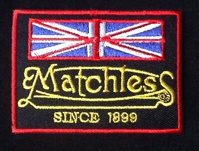 Matchless Motorcycle Since 1899 British Flag Bike Biker  Badge Iron Sew On Patch • 2.99£