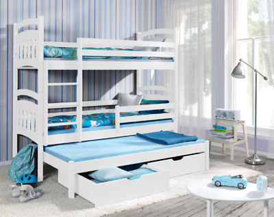 £489 • Buy New Bunk Bed JAC 3 Triple Sleeper 3ft Single Children Bedroom Many Colours