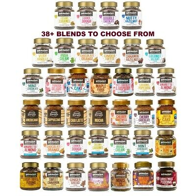 6x BEANIES FLAVOURED INSTANT GROUND COFFEE 50g JARS: SELECT ANY 6 BLENDS • 14.99£