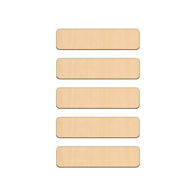 RECTANGLE Shape Craft Blank 3x12cm BIRCH Wood Plaque Sign Pyrography • 2.42£