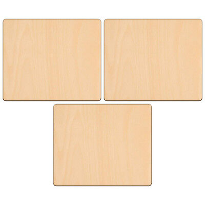 £3.89 • Buy RECTANGLE Shape Craft Blank 15.2x12.7cm BIRCH Wood Plaque Sign Pyrography