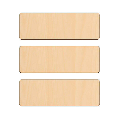 £2.65 • Buy RECTANGLE Shape Craft Blank 18x6cm BIRCH Wood Plaque Sign Pyrography