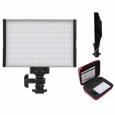 Studio Video Pro LED Light Panel 3200-5600K Dimmable + Bag For Camera Camcorder • 49£