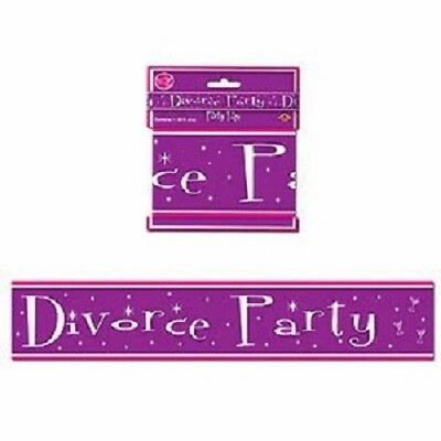 New, Purple, Divorce Party Banner, 20 Feet Long • 3.57£