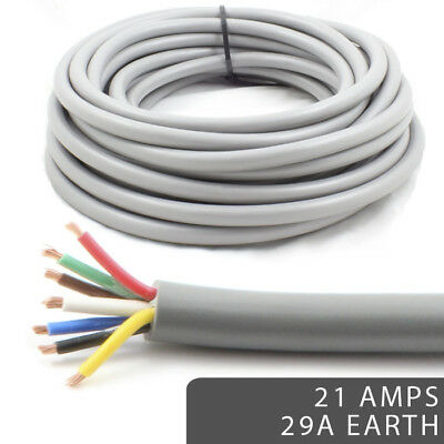 AU359.77 • Buy *29Amp Heavy Duty Earth 21 AMP Rated* 7 Core Cable Wire Caravan Trailer Lights