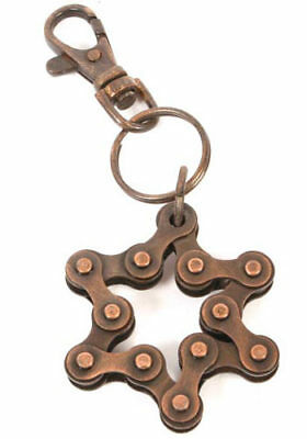 Keyring - Star Shape Recycled Bike / Bicycle Chain Parts Eco Gifts Collectables • 5.99£
