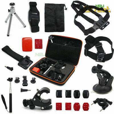 AU29.96 • Buy GoPro Accessories Kit Strap Chest Mount Tripod Monopod For Go Pro HD Hero Camera