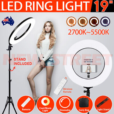 AU85.99 • Buy 19  5500K Dimmable Diva LED Ring Light Diffuser With Stand Make Up Studio Video