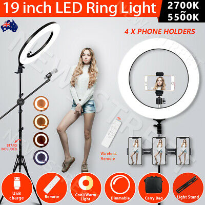 AU129.99 • Buy 19  5500K Dimmable Diva LED Ring Light Diffuser With Stand Make Up Studio Video