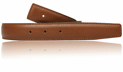 £59.99 • Buy Tan Cognac Brown Black H Belt 32mm Reversible Leather Strap Without Buckle NEW