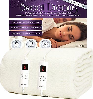 £64.95 • Buy Electric Blanket Dual Control Mattress Under Bed Cover Double Super King Size