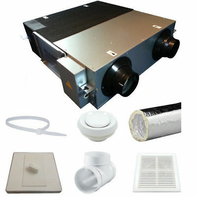 £603.33 • Buy Heat Recovery Ventilation System DHV-25N 90% Efficient Condensation Control