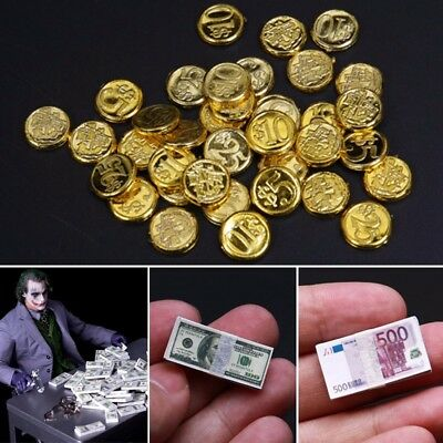 $8.54 • Buy 1/6 Scale Coins Dollars Euro Money Scene Accessories Toys For 12  Figure Action