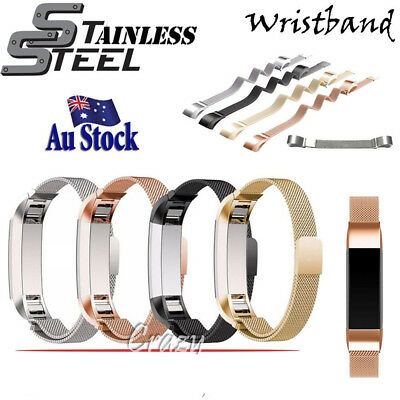 AU11.98 • Buy Replacement Silicone Stainless Steel Wristband Band Strap For Fitbit Alta AltaHR