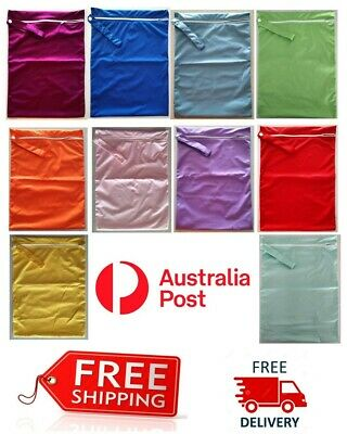 AU7.45 • Buy 1 X Large Waterproof Kids Wet Bag 30cm X 40cm For Cloth Nappies, Books, Swimmers