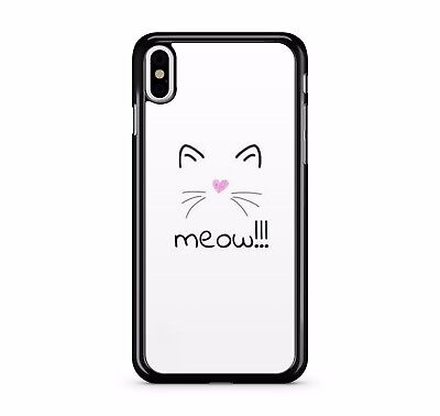 £7.99 • Buy Meow Whiskers Cat Kitten Heart Nose Cute Ears Pet Animal 2D Phone Case Cover