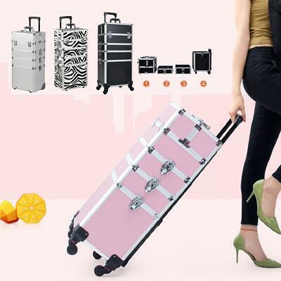 $71.99 • Buy 3/4in 1 Pro Aluminum Rolling High Quality Makeup Case Cosmetic Organizer Trolley
