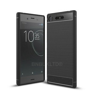 AU7.17 • Buy For Sony Xperia XZ Premium Carbon Fibre Gel Case Cover Brushed Shockproof Hybrid