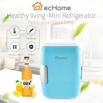 AU44.99 • Buy EcHome Portable 4L Mini Refrigerator Fridge Cooler  And Warmer For Car Home Blue