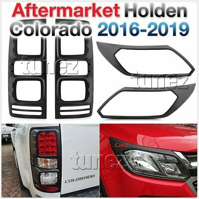 AU85.21 • Buy Front Tail Rear Light Lamp Protector Black Holden Colorado RG MK2 LS LTZ Z71 TU