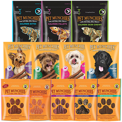 £9.99 • Buy Pet Munchies 100% Natural Dog Puppy Food Real Meat Treats & Training Chews