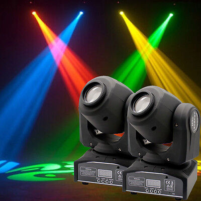 2x 30W Spot GOBO LED RGBW Stage Lighting Moving Head DMX512 Disco DJ Party Light • 115.19£