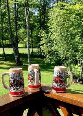 $ CDN47.91 • Buy Budweiser Steins NWOT Holiday Collection Limited-C-Series🍺