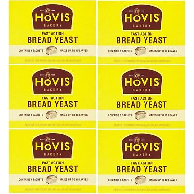 Hovis Fast Action Bread Yeast Sachets Hand Machine Baking 42g 1,2,3 Or 6 Packs • 3.99£